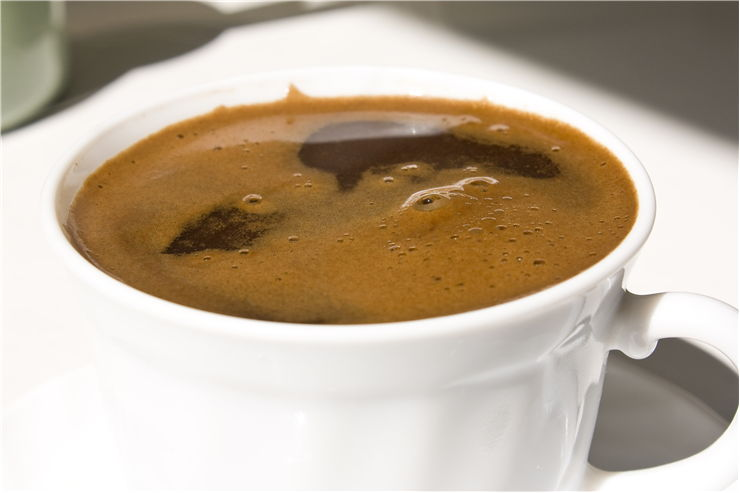 Picture Of Black Coffee In White Cup