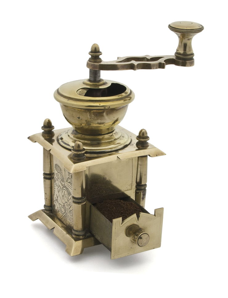 Picture Of Brass Coffee Grinder