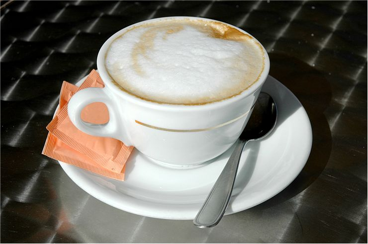 Picture Of Cappuccino In White Cup
