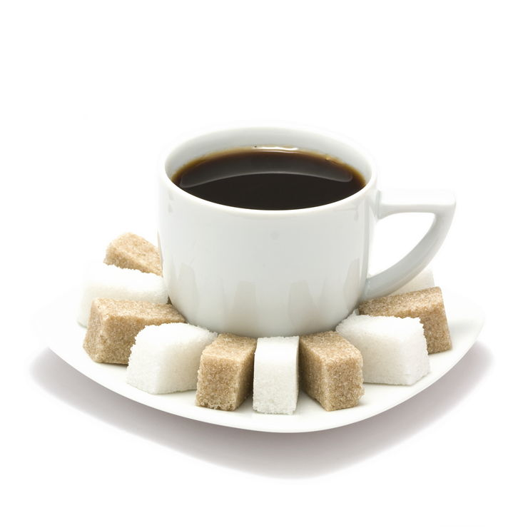 Picture Of Coffee And White And Brown Sugar