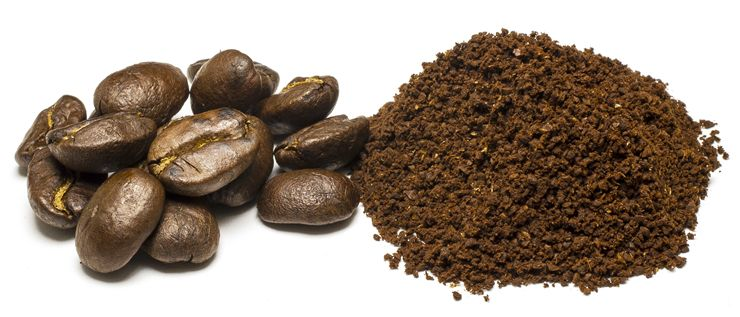 Picture Of Coffee Beans And Coffee Ground