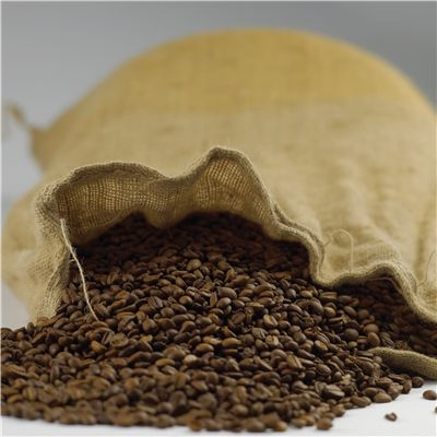 Picture Of Coffee Beans In Canvas Bag