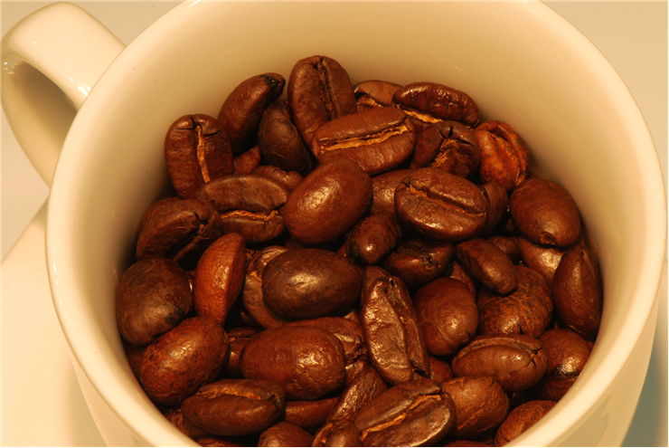 Picture Of Coffee Beans In Cup