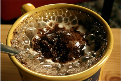 Picture Of Coffee With Chocolate Cream