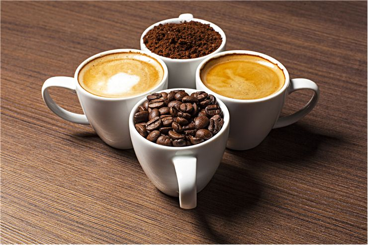 Picture Of Four Cups Of Coffee