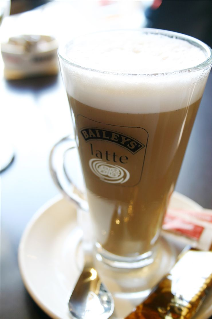 Picture Of Glass Of Latte Coffee