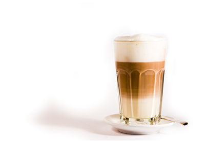 Picture Of Glass Of Latte Macchiato