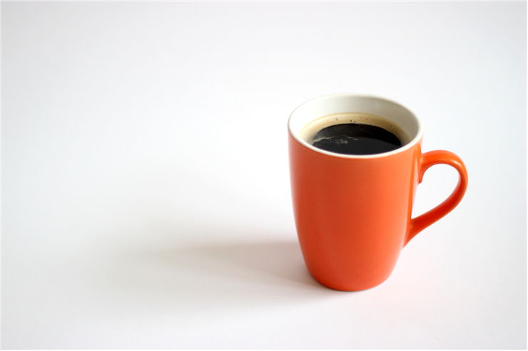 Picture Of Orange Cup Of Coffee