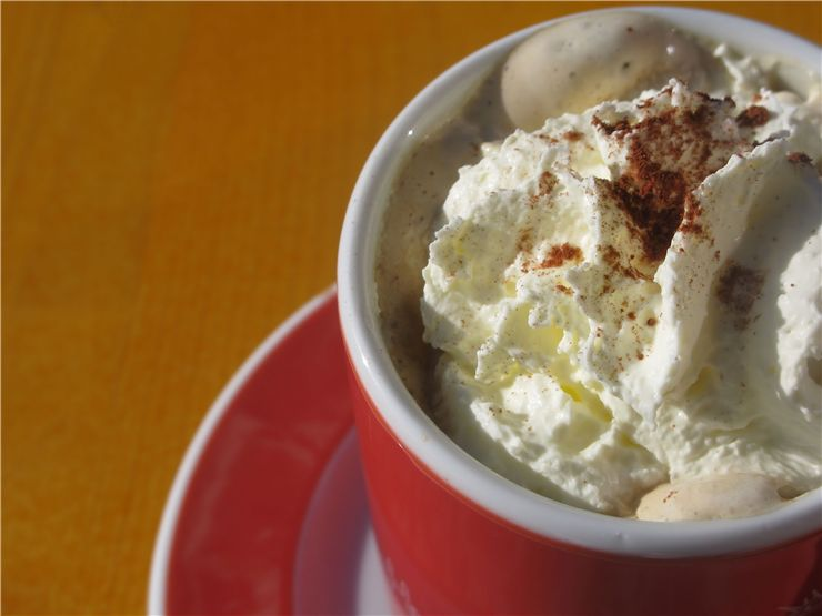 Picture Of Whipped Cream And Coffee